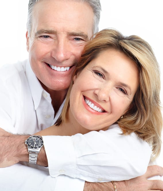 couple with a wonderful smile