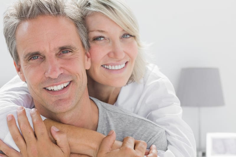 couple with bright teeth